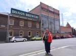 Denis checking out the James Boag Brewery, Launceston