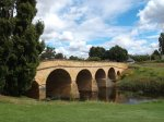 Richmond Bridge (1823-25).  Build by convicts in 1823-25 and still in use today.  Oldest road bridge still in use in Australia!