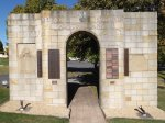 Signals WW1 Arch at Anglesea Barracks, Hobart