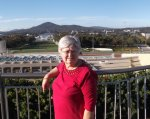 Colleen on the Roof of Parlment House, Canberra