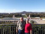 Denis and Collleen on the roof of Parliament House